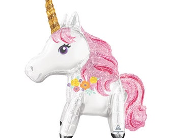 Pink Dust Magical Unicorn Balloon - Air