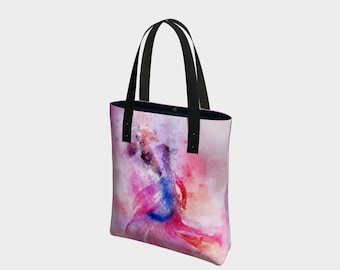 Watercolor Koi Fish Tote bag with geek pixels