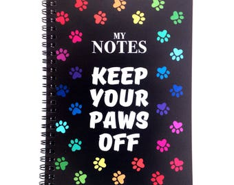 A5 Paw Print Notebook