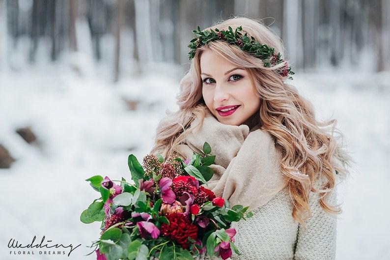 preserved woodland bride Crown Rustic crown Woodland Greenery Bridal Halo Bride eucalyptus crown Eucalyptus Greenery Flower Crown