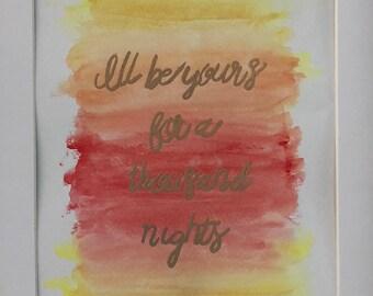 Liam Payne Lyric Art - For You