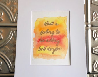One Direction Lyric Art - What A Feeling