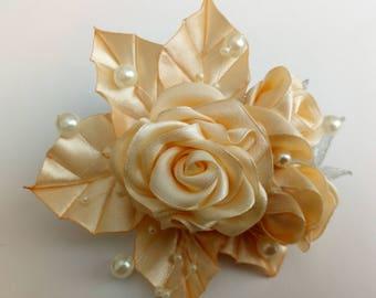 Kanzashi haip pin, wedding hair barrette