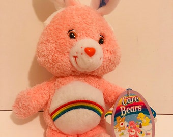 "8"" 2004 bunny rabbit cheer bear Carebear rainbow with original tags"
