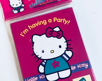 1999 Sanrio Hello Kitty sealed pack of birthday party invitations