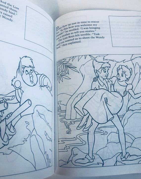 1997 Disneys Peter Pan coloring sticker book unused missing | Etsy