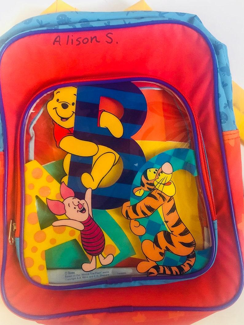 c2d397cb145 Disneys Winnie the Pooh childrens book bag back pack red | Etsy
