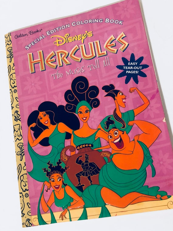 Vintage Disneys Hercules The Muses Tell All Coloring Book