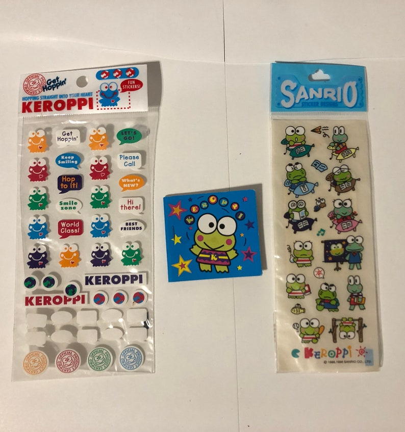 NEW Sanrio Kero Kero Keroppi Plastic stickers