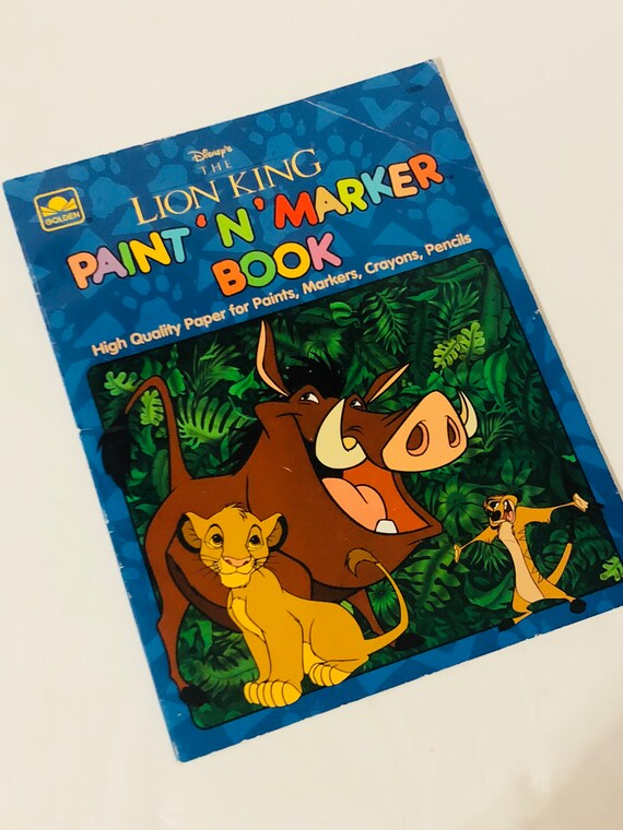 1994 Paint N Marker Coloring Book The Lion King Golden Book Etsy