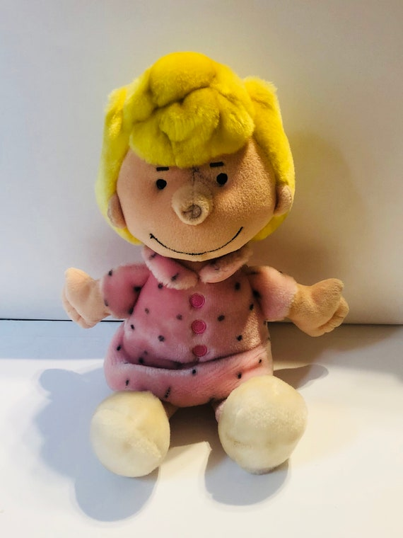 Vintage Peanuts Character Sally From Charlie Brown Plush Toy Etsy
