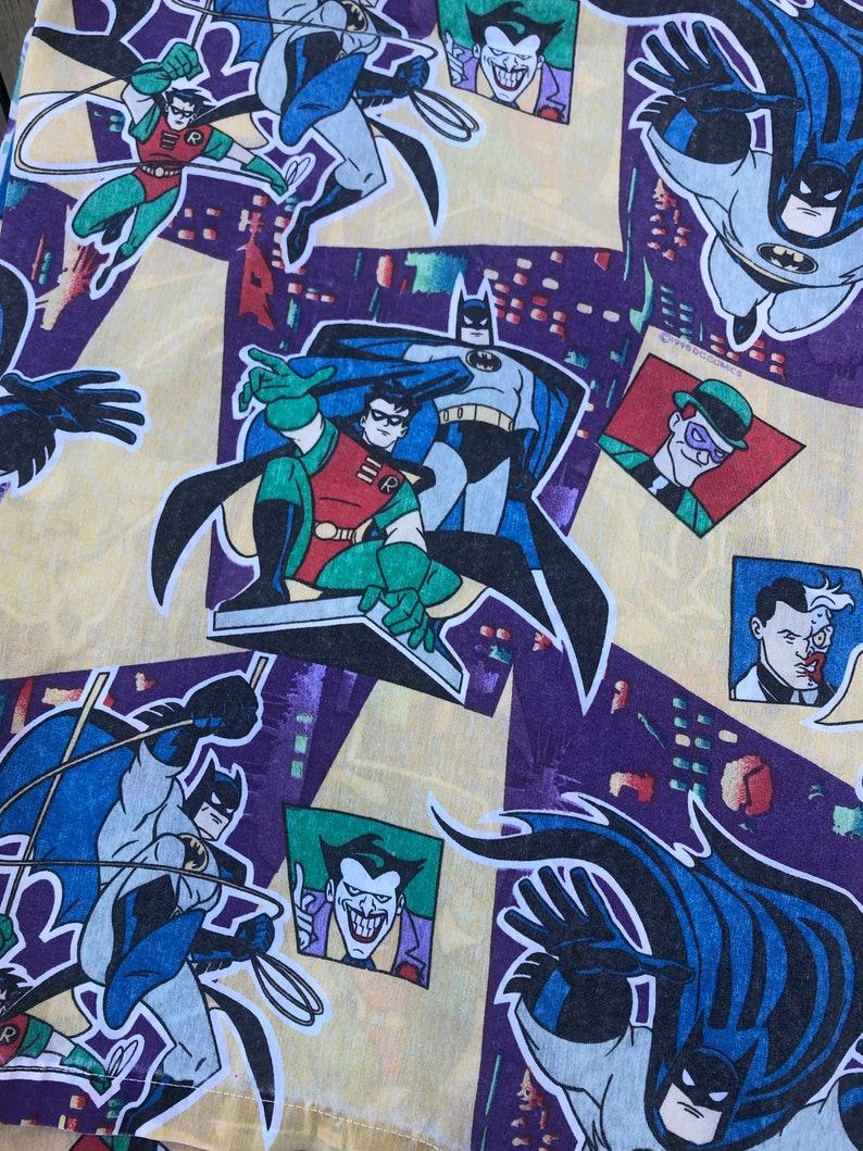Batman animated series 1995 Flat Sheet Twin Robin Joker Fabric