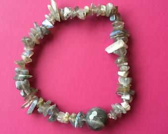 Labradorite Chip Bracelet