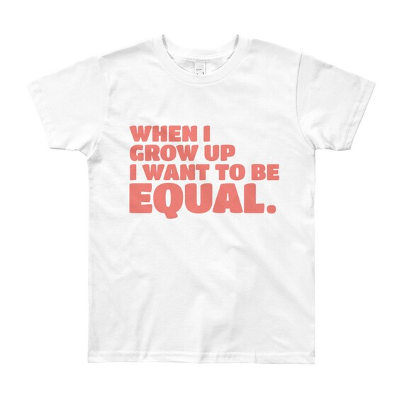 When I Grow Up Youth Empowerment Short Sleeve T-Shirt - Pink Text