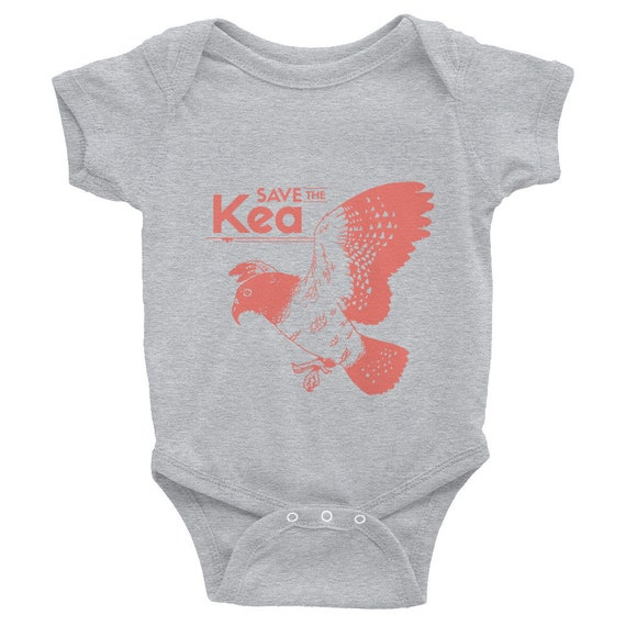 "Endangered Species Body Suit ""Save The Kea"" Infant Bodysuit Short Sleeve"