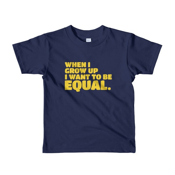 When I Grow Up Youth Empowerment Short Sleeve T-Shirt - Yellow Text