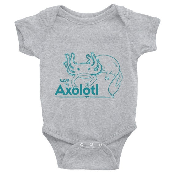 "Endangered Species Body Suit ""Save The Axolotl"" Infant Bodysuit Short Sleeve"