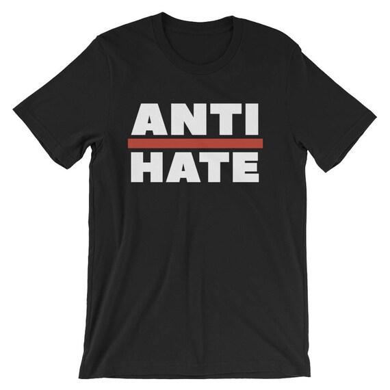 "Anti-Trump Shirt ""ANTI-HATE""  - Unisex Short Sleeve"