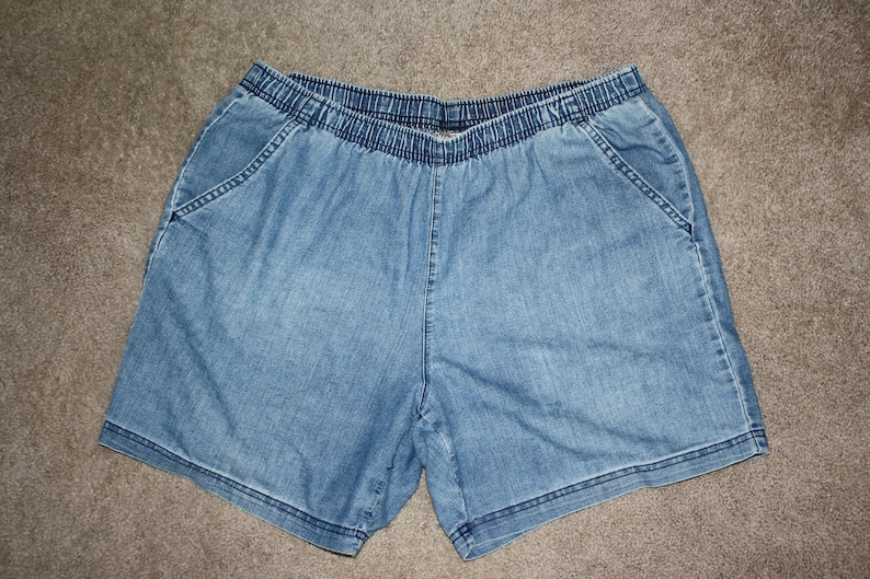 fdb3fd20a94 Vintage White Stag Mom Jean Shorts High Waist Stone Wash