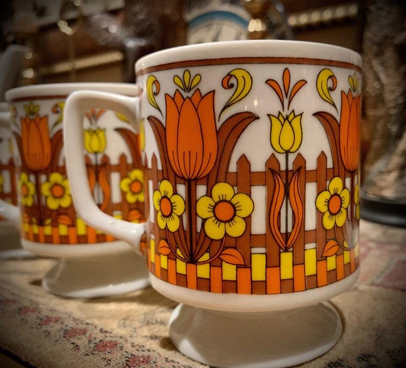 70s Floral Tea Set By Libbey