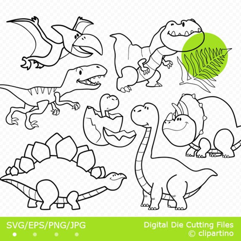 Dinosaur Outline Svg Dino Svg Cut File Cricut Design Cute Etsy
