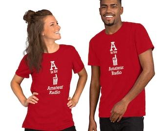 I Love Ham Radio Short-Sleeve Unisex T-Shirt Amateur Radio