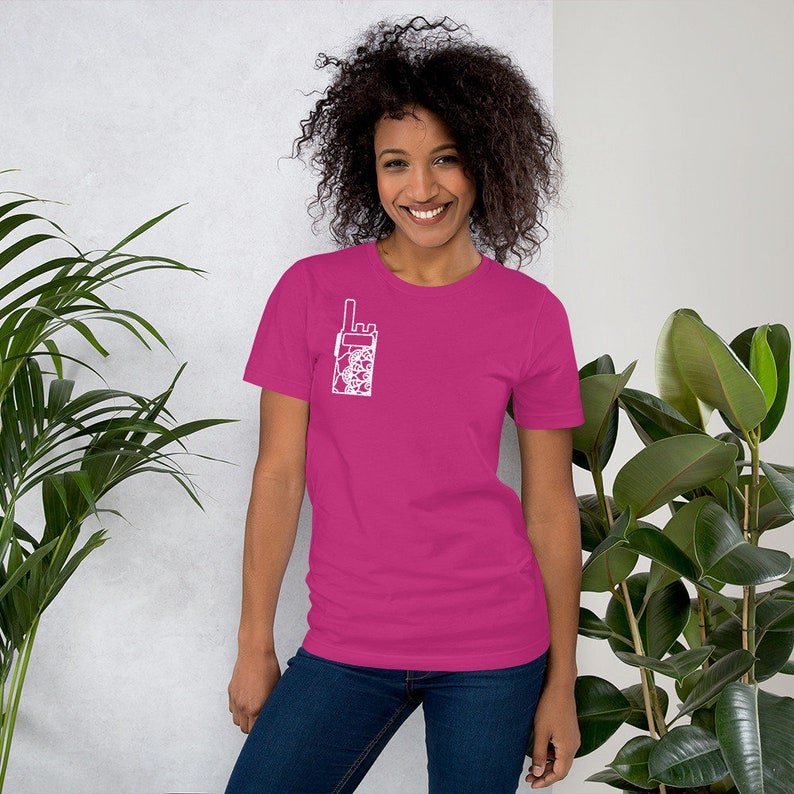 Mandala Handheld Ham Radio Short-Sleeve Unisex T-Shirt Amateur Radio