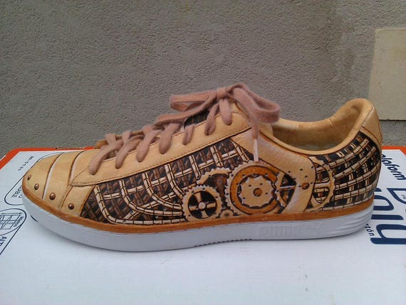 entire collection super popular new arrival Custom Steampunk Adidas Stan Smith gold Nike Air Force One Sneaker by Argos  Navis