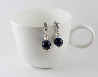 Elaine Lapis Lazuli Earrings