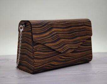 b1b8b9cc74 Wooden clutch bag