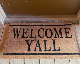 Welcome Y'all Doormat