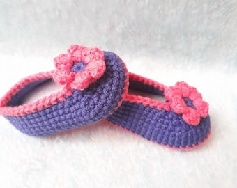 Crochet baby shoes 0-6 months