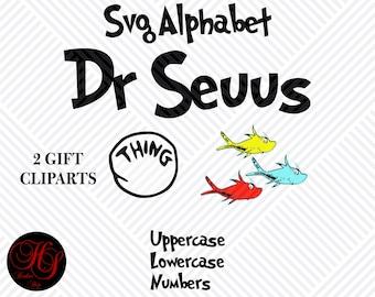 Dr Seuss Alphabeth SVG, SVG Alphabeth, Files For Cricut, Eps,Png,Dxf,Instant Download,Dr Seuss Clipart Svg,Disney Font SVG, Digital Alphabet