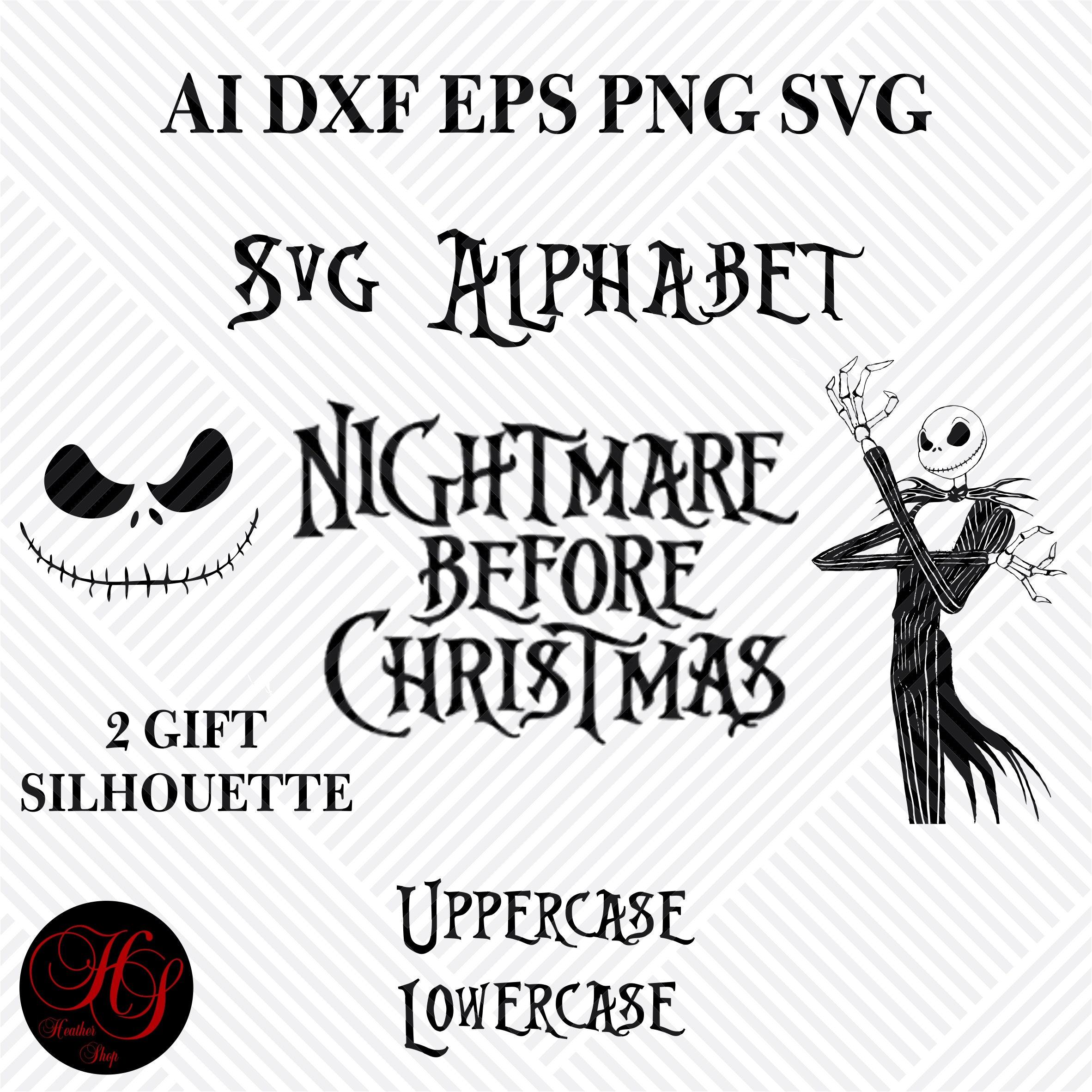 Nightmare Before Christmas Alphabet SVG SVG Alphabet Files | Etsy