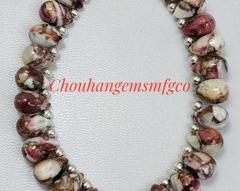 2pcs 15x7mm Handmade Nepalese Tibetan Turquoise Brass Loose Craft Beads 20#