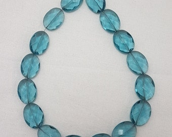 10 Pieces Swiss Blue Quartz Faceted Briolettes,8 MM Size,Loose Gemstone Trillion  Beads,AAA Grade High Quality Briolettes Trillion Beads