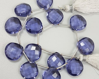 1 Matched Pair Iolite Quartz Beads,Iolite Quartz Faceted Beads,Iolite Elongated Tear Drops Beads,AAA Grade Quality Briolettes Beads,36 mm