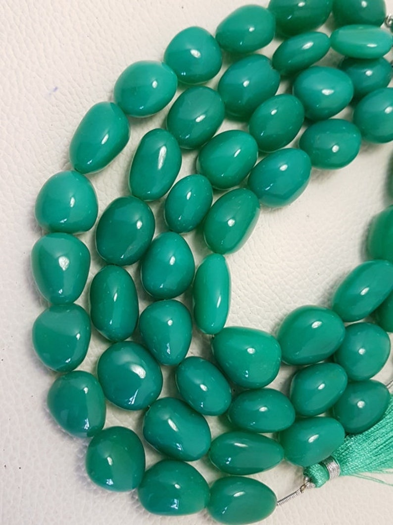 16-18 mm 9 Inch Green Onyx Smooth Nuggets beads,green onyx nuggets,AAA quality green onyx Smooth Nuggets,green onyx nuggets briolettes