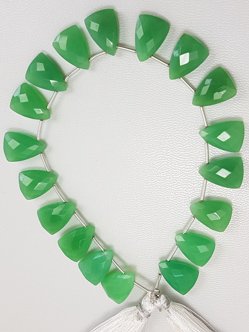 15x11mm 8 Inches Strand Crysoprase,Crysoprase Fancy Beads,Apple Green Crysoprase,Crysoprase Fancy Shape Faceted Beads