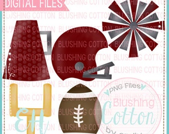 for printing and other crafts Snack Cakes Football Set Green and White  Watercolor Design PNG Artwork Digital File