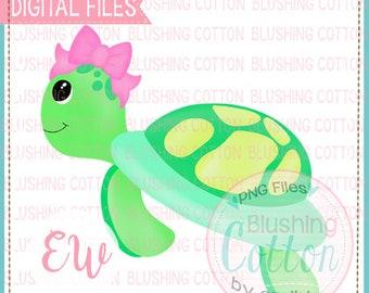 Sea hair kids resort Green Turtles in Pink Plaid Print Bow by Cheryl/'s Bowtique gift girl beach
