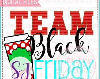Team Black Friday 2 Design Watercolor PNG Artwork Digital File - for printing and other crafts