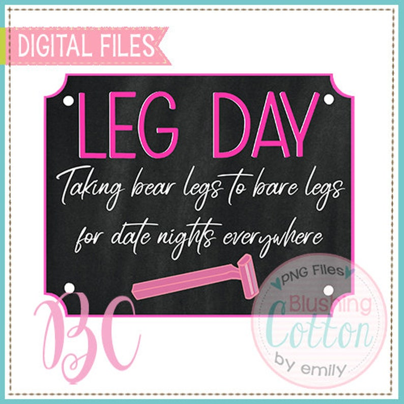 Date Night Bear to Bare Legs With Chalkboard  PNG Artwork Digital File for printing and other crafts