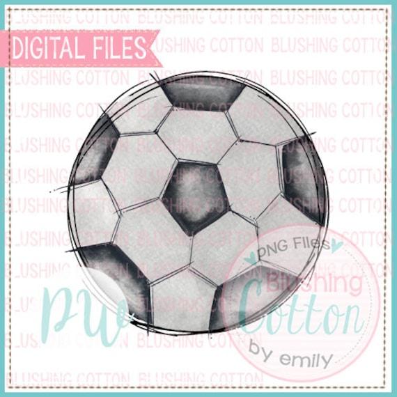 Fussball Mit Skizze Umriss Aquarell Png Grafik Digitaldatei Fur Den Druck Und Andere Handwerk