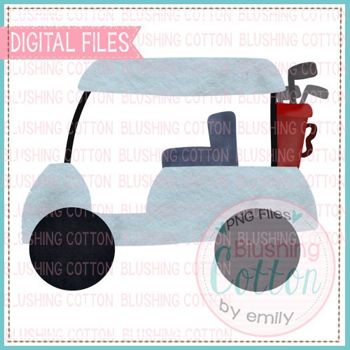 Golf Cart PNG Watercolor Artwork Digital File - for printing and other crafts for sale