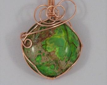 Jasper & Copper Pendant