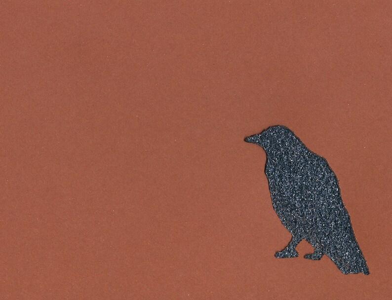 Glitter Crow Handmade Notecards