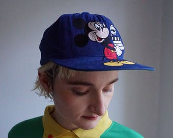 2e8d44ba9af 90s Mickey Mouse Hat   Vintage Navy Blue Walt Disney cap   Goofys Hat Co