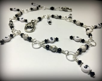 White Speckle Row Counter Chain for Knitting | Snag Free | Gift for Knitters