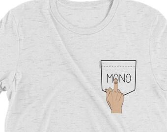 Rock Climbing Mono Pocket Premium T Shirt, Rock Climber Shirt, Rock Climbing Gift, Bouldering, Climber Shirt